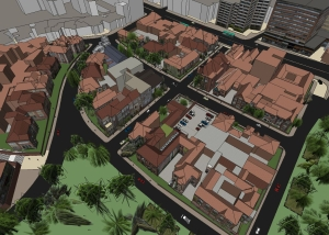 Sketch Modelado Barrio la Merced